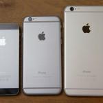 vergelijking iPhone 5s, 6 en 6 Plus