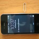 simkaart verwijderen iPhone