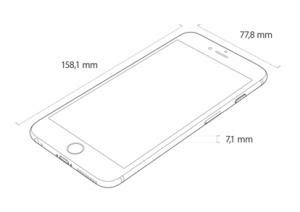 de afmetingen van de iPhone 6 Plus