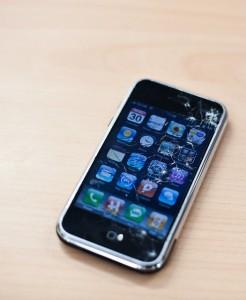 gebroken scherm iPhone