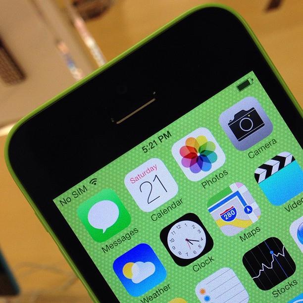 een groene iPhone 5c