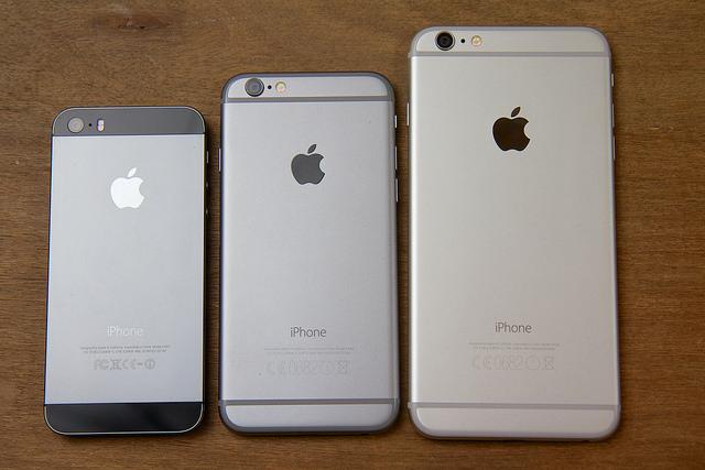 iPhone 5s, 6 en 6 Plus