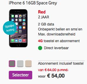 aanbieding Vodafone iPhone 6