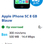 Weekaanbieding: iPhone 5c 8 GB Ben