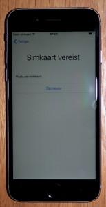 activeren iPhone zonder simkaart