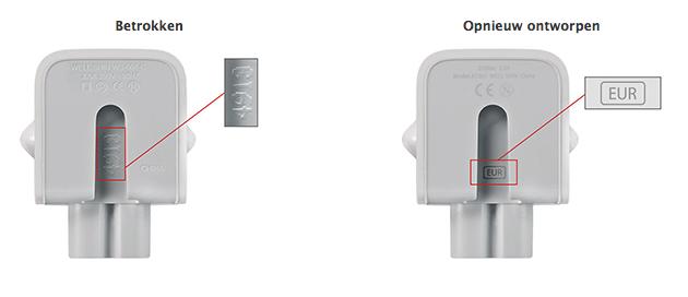 omruilprogramma adapter Apple
