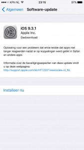 iOS 9.3.1 staat klaar