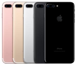 de iPhone 7 in de verschillende kleuren