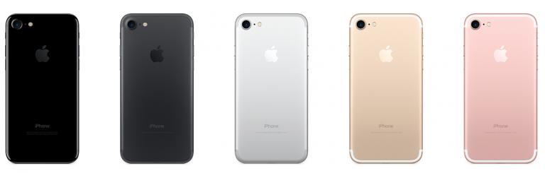 kleuren iPhone 7 achterkant