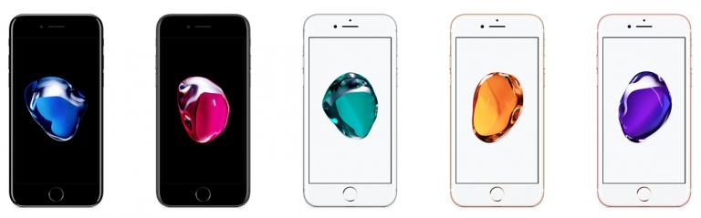 kleuren iPhone 7 voorkant