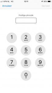 pincode sim wijzigen bij Wijzig pincode